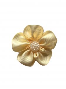 Floare saten mat, raiat - 4 cm (ivory)