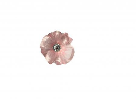 Floare organza 2 cm roz