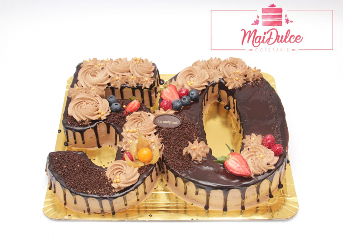 Tort aniversar Cifre 50 - ciocolata