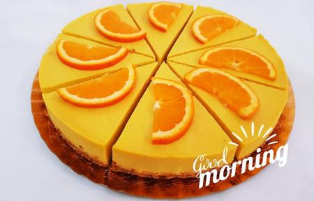 tort raw vegan cu portocale