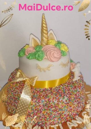 Tort unicorn cu etaj