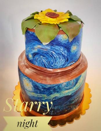 Tort de nunta din martipan si flori din pasta de zahar