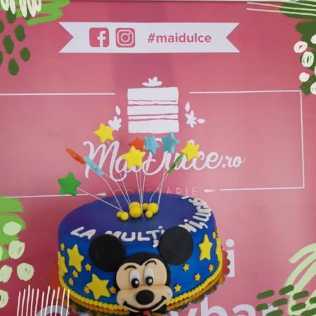 Tort de martipan cu Mikey Mouse