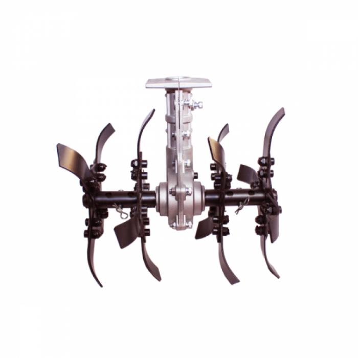 Motocoasa Micul Fermier GF-1310 + Cultivator + Ham dublu, 3.4 CP, 43 CC, 2 timpi, 150 cm Lungime Arbore, Accesorii Incluse 5
