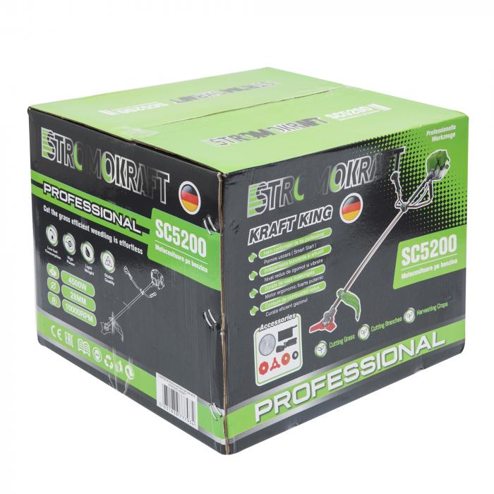Motocoasa 4 timpi STROMO KRAFT SC 5200 Professional, 6CP, 4500W, 4 tipuri de taiere, ham dublu [6]