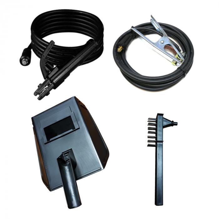 Invertor sudura EDON MMA 310A + Masca Automata, cu cristale lichide, cablu de sudura de 3 metri 3
