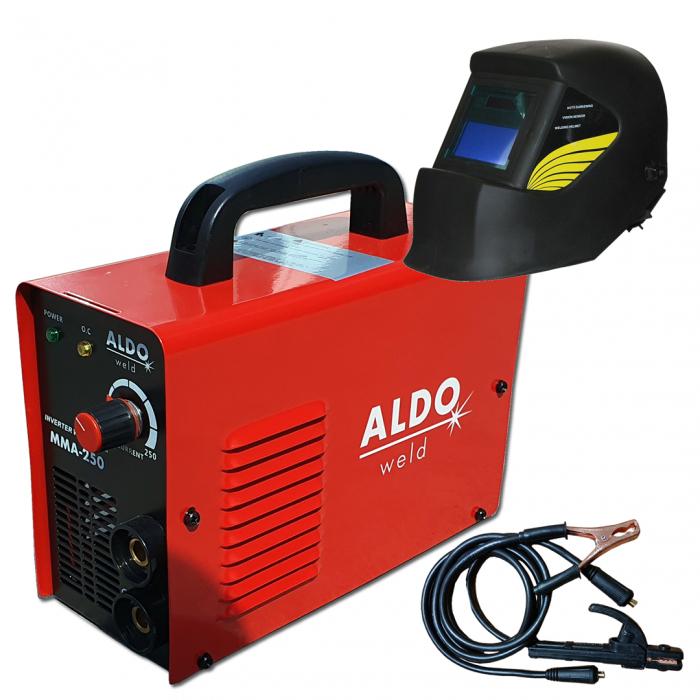 Aparat de Sudura - Invertor ALDO MMA 250 + Masca Automata, cu cristale lichide [0]
