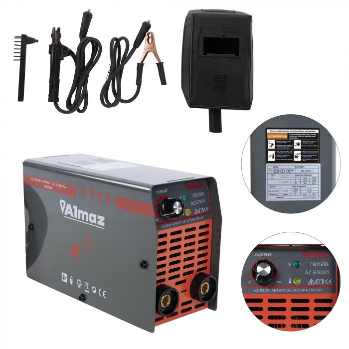 Aparat de sudura tip invertor , ALMAZ TB 250 B, accesorii incluse [2]