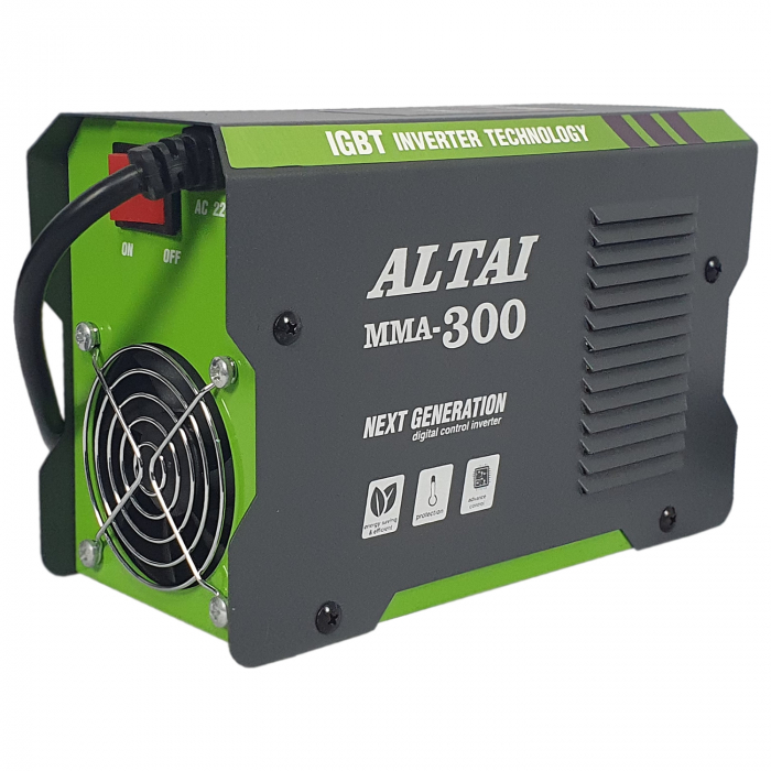 Pachet promo: Aparat de sudura ( Invertor ) ALTAI MMA 300 + Masca de sudura automata + Cutie transport + Palmari + Electrozi, Cablu 3m 3