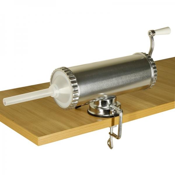 Aparat de umplut carnati, Orizontal, Inox, Capacitate 2.5 kg, 3 Palnii Incluse 1