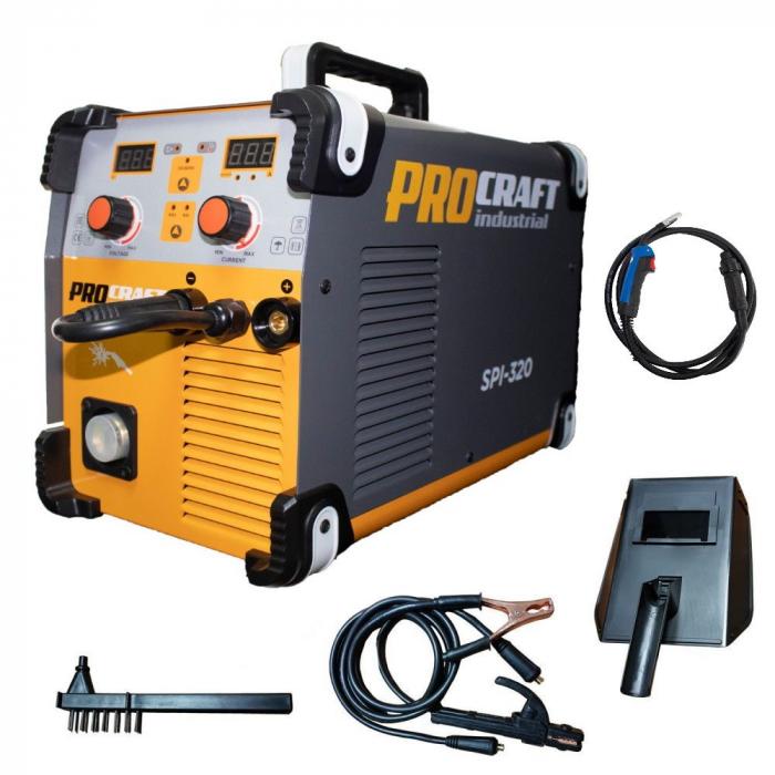 Aparat de sudura invertor MIG/MMA ProCraft Industrial PSI 320, Accesorii Incluse 1