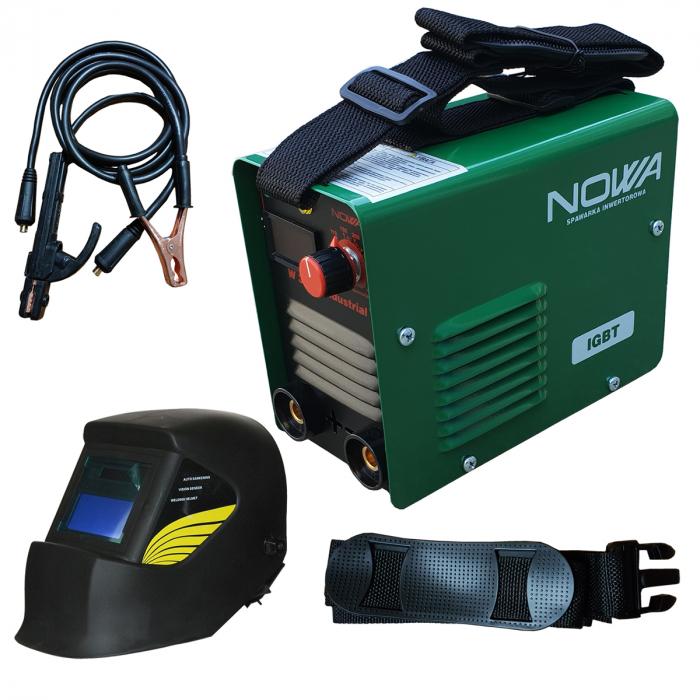 Aparat de Sudura - Invertor NOWA 300A + Masca cu cristale lichide, Afisaj electronic, electrozi 1.6-5 0
