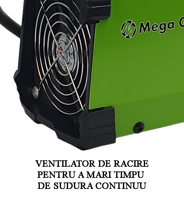 Aparat de sudura tip invertor MegaGarden MMA 311DK, 310Ah, cablu 3 metri, Accesorii Incluse,Cutie de Transport [10]