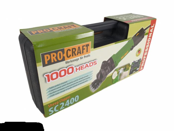 Aparat tuns oi ProCraft SC2400, 450 W, 2400 RPM, 76 mm, Electric Variator viteza [2]