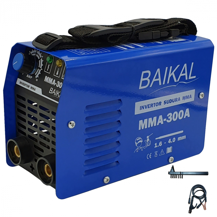 Aparat de sudura ( Invertor ) BAIKAL MMA 300A  + Masca automata cu cristale lichide + Manusi + Electrozi 2