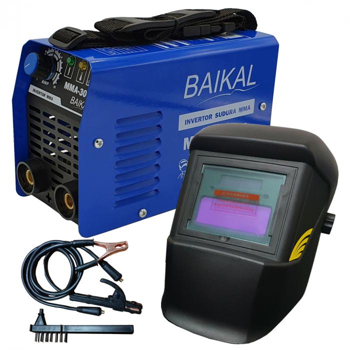Aparat de sudura ( Invertor ) BAIKAL MMA 300A  + Masca automata cu cristale lichide + Manusi + Electrozi 3