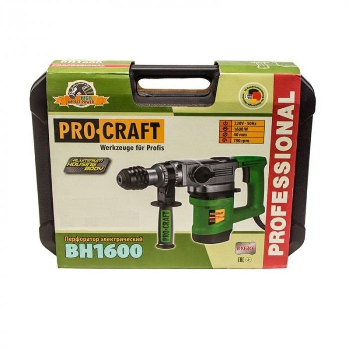Ciocan rotopercutor  ProCraft BH 1600, 1600W, 3 burghie, 4 joule 3