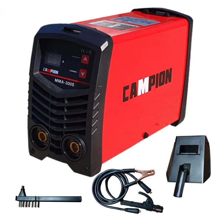 Invertor sudura tip Invertor CAMPION MMA 300S , Accesorii Incluse, Electrozi 1.6-5mm, Usor Manevrabil 0