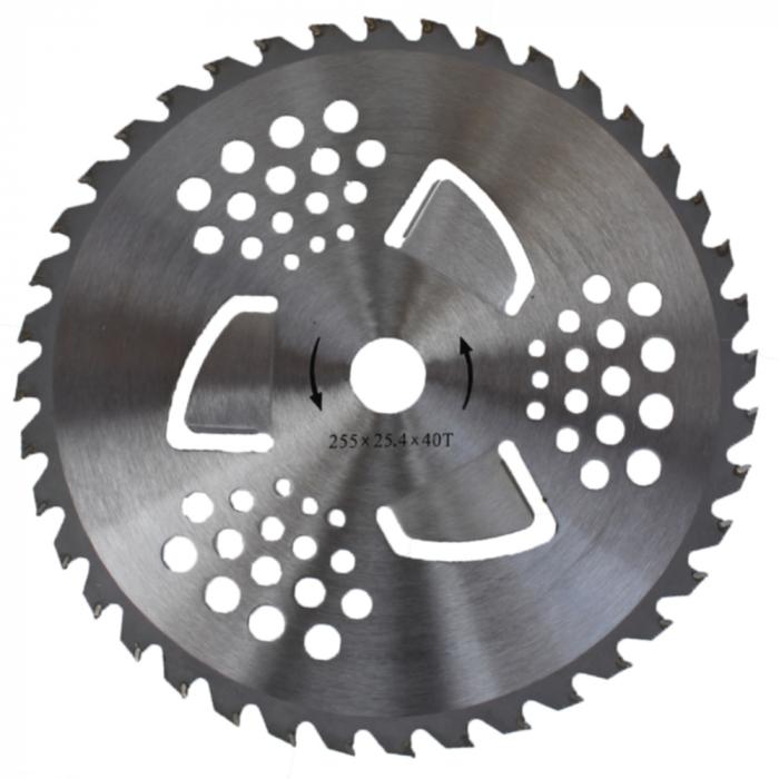 Disc pentru motocoasa 40T cu vidia si aripioare, Model Universal [0]