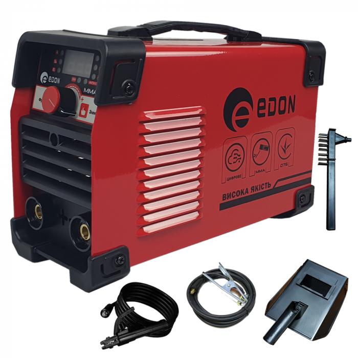 Invertor de sudura EDON MMA 365, afisaj electronic, ventilator racire, cablu sudura 2.8m, cablu masa 1.8m 0