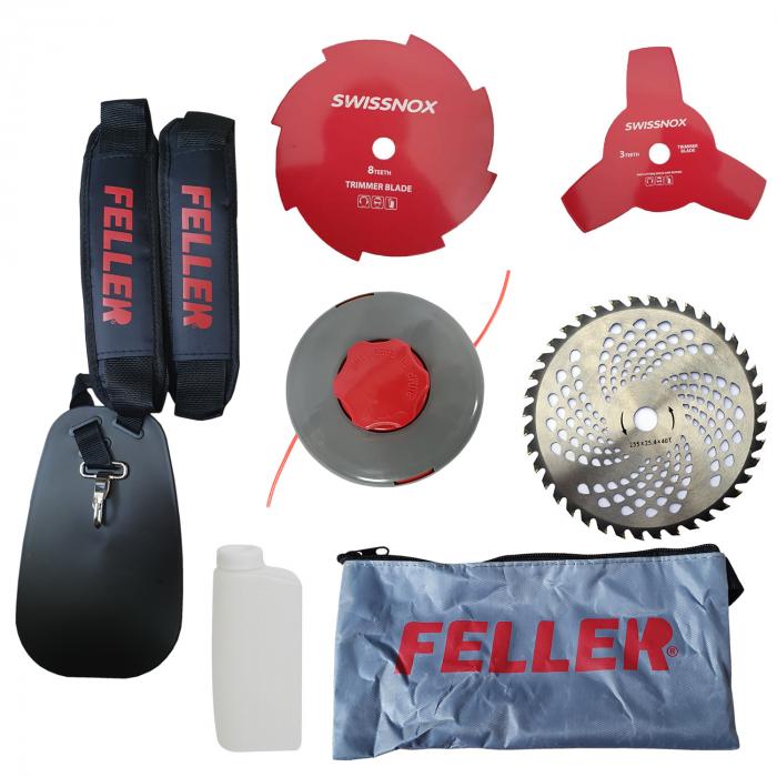 Motocoasa de umar FELLER by Canada Tools GT 4200, 5.7CP, 6 Accesorii Incluse, Greutate Redusa - 5.6KG 3