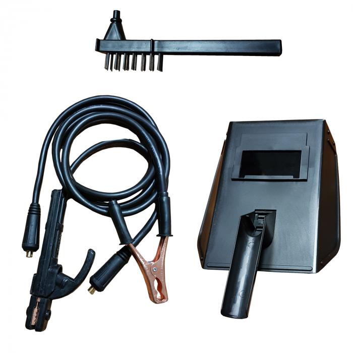 Invertor de sudura MegaGarden  SW 250 + Masca cristale lichide, electrod 1.6-4mm, accesorii incluse 3