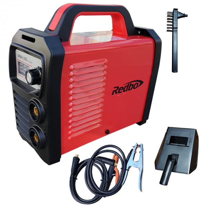 Invertor sudura Redbo MMA 300A, Accesorii Incluse, Electrozi 1.6-5 mm 0
