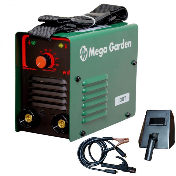 Aparat de sudura invertor MegaGarden 250A, electrod 1.6-4mm, Accesorii Incluse 0