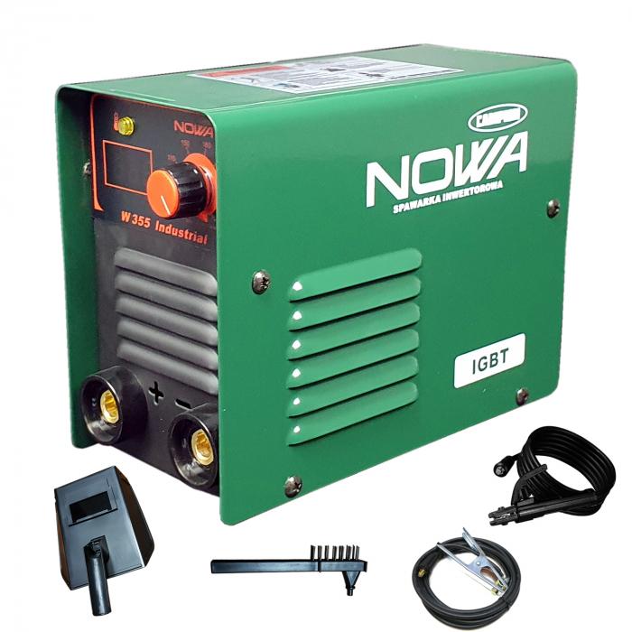 Aparat de Sudura tip Invertor,Model NOWA W355 + Masca automata,  Electrozi 1.6-5mm 5