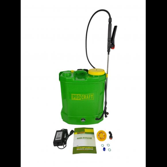Pompa de stropit electrica PROCRAFT AS12L, 12V, Volum 12 litri, 3 tipuri de pulverizare [0]