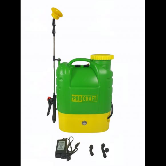 Pompa de stropit electrica PROCRAFT AS16L, Volum 16l, 12V/8Ah, 3 tipuri de pulverizare [0]
