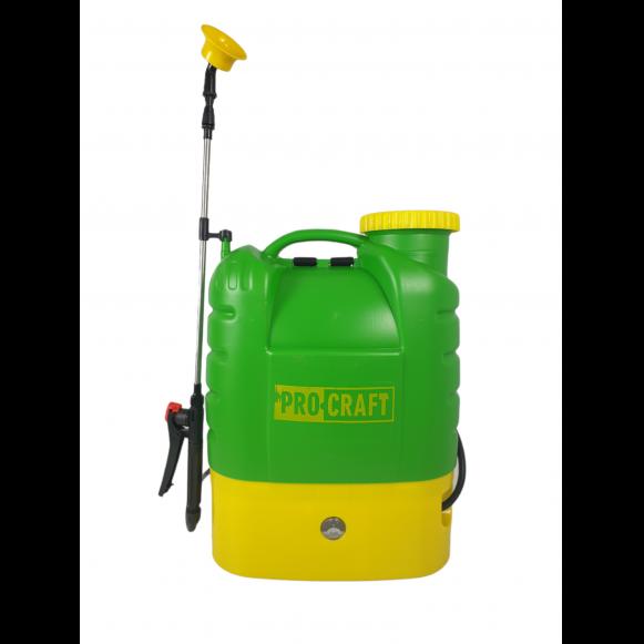 Pompa de stropit electrica PROCRAFT AS16L, Volum 16l, 12V/8Ah, 3 tipuri de pulverizare [1]