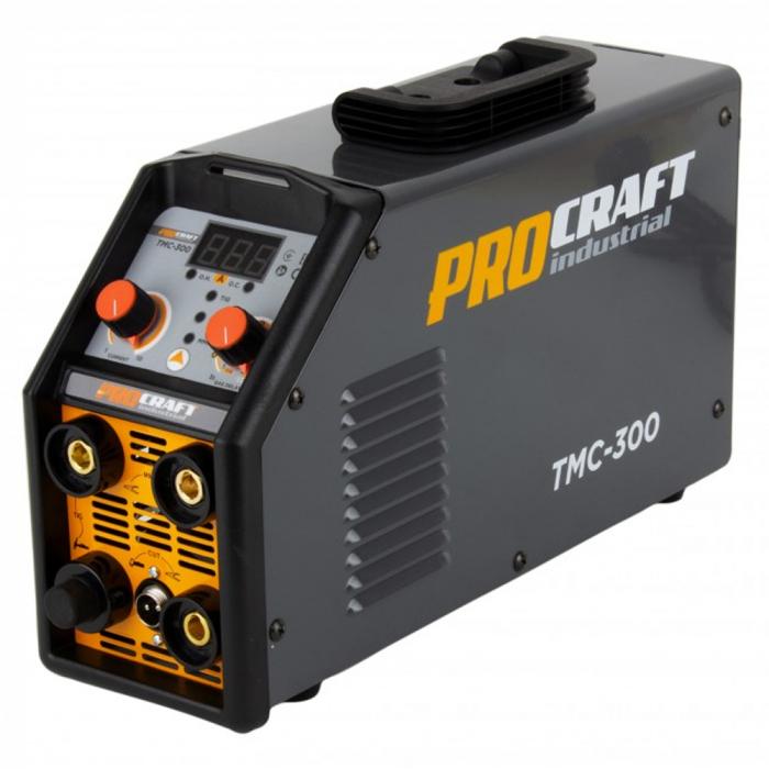 Aparat de sudura invertor Plasma ProCraft TMC 300, 3 in 1, MMA/TIG/PLASMA, Accesorii Incluse [0]
