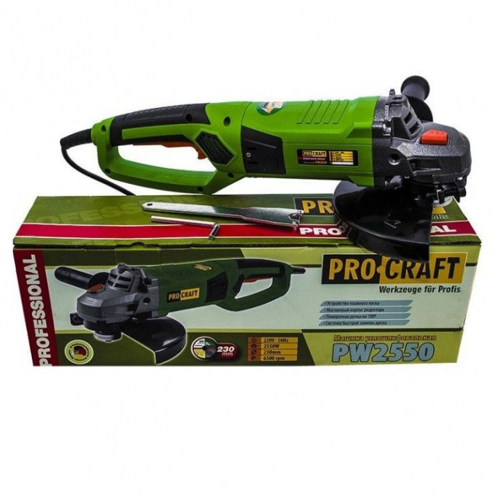 Polizor Unghiular,Model ProCraft PW 2550, 2550W, 7500rpm 1