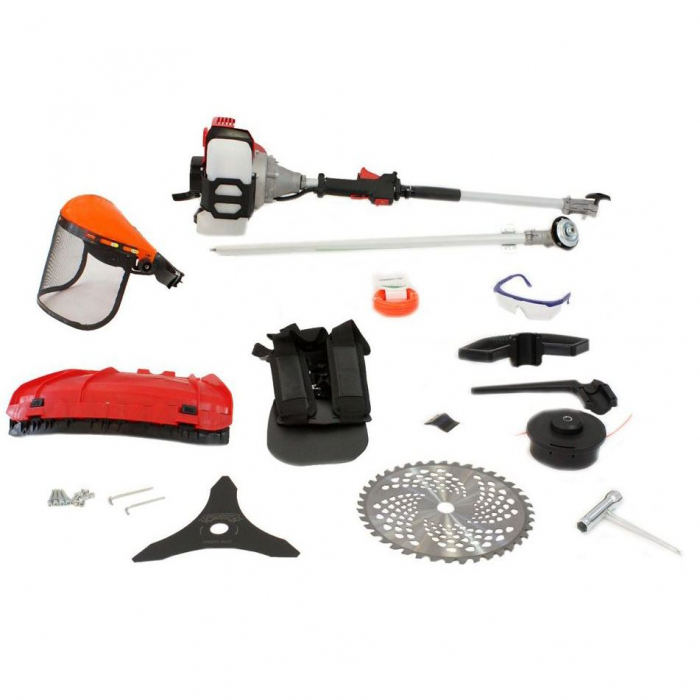 Motocoasa Micul Fermier GF-1549, 4.7 P, 43 CC, 150 cm lungime tija, 0.7 l, benzina, accesorii incluse 1