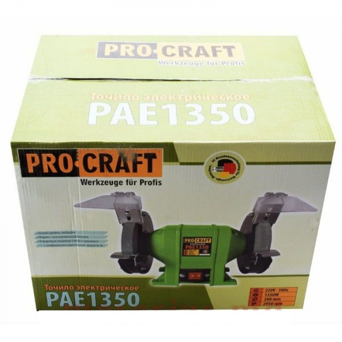 Polizor de banc,Model ProCraft PAE 1350, 1350W, 2950RPM 3