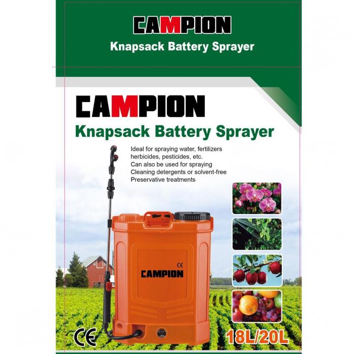 Pompa de stropit, CAMPION 20L, Regulator Presiune + Acumulator 1