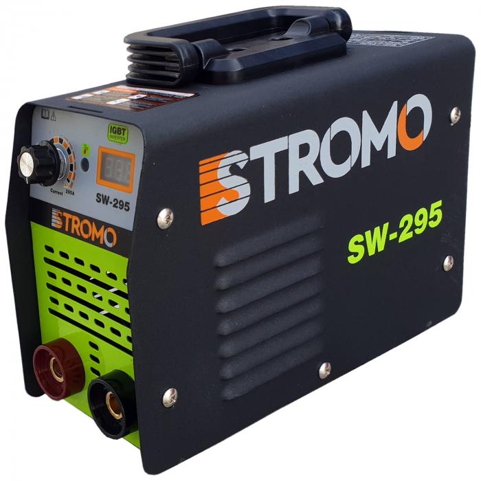 Aparat de sudura invertor STROMO SW 295+ Masca cristale lichide,afisaj electronic, electrod 1.6-4mm, accesorii incluse 1