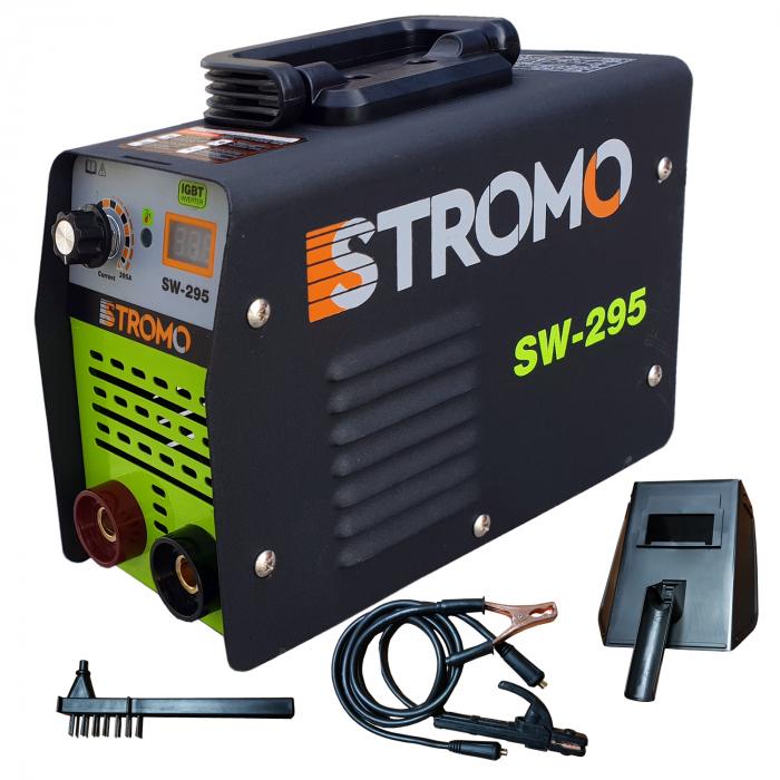 Aparat de sudura invertor STROMO SW 295,afisaj electronic, electrod 1.6-4mm, accesorii incluse 0