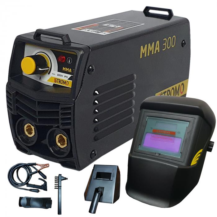 Aparat de sudura ( Invertor ) STROMO MMA 300 + Masca cu cristale automata, Cablu 3m, 320Amps 0