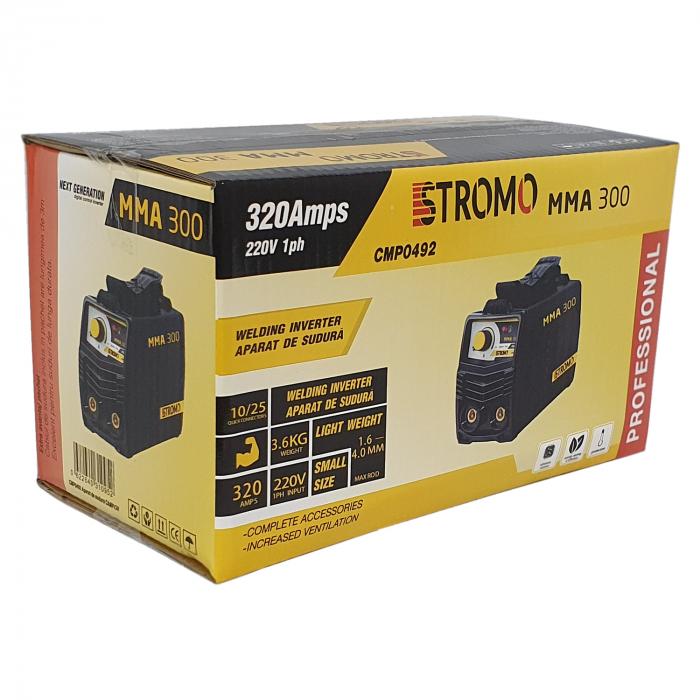 Aparat de sudura ( Invertor ) STROMO MMA 300 + Masca cu cristale automata, Cablu 3m, 320Amps 3