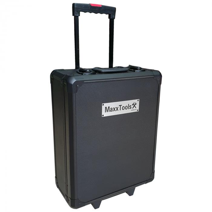 Trusa de scule profesionala 386 piese MaxxTools cu troler pentru transport 2