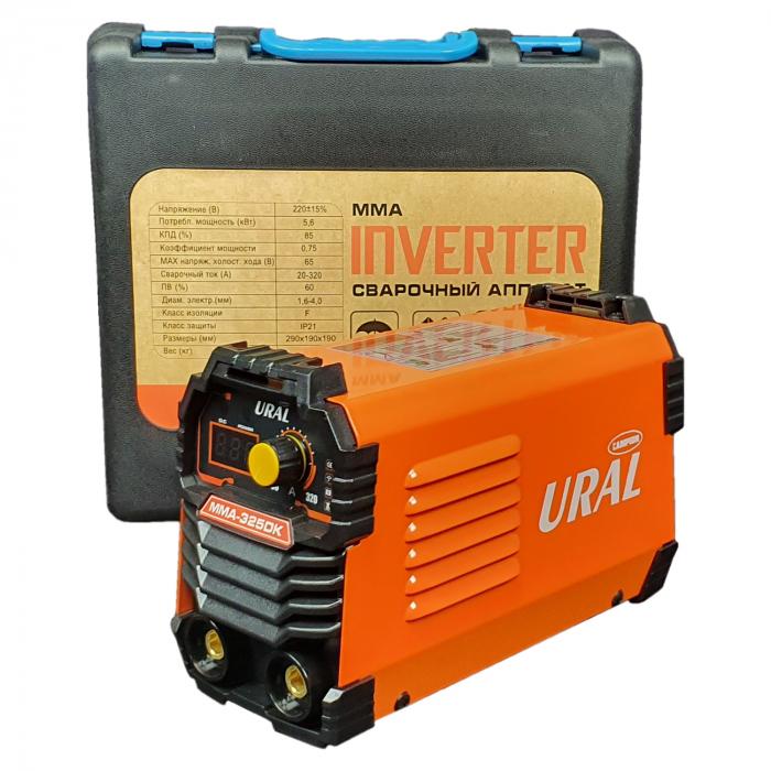 Aparat de sudura ( Invertor ) URAL MMA 325DK + Masca automata, 320Ah, Accesorii Incluse,Cutie de Transport, Cabluri 3M 4
