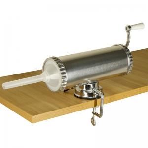 Aparat de umplut carnati, Orizontal, Inox, Capacitate 2.5 kg, 3 Palnii Incluse1