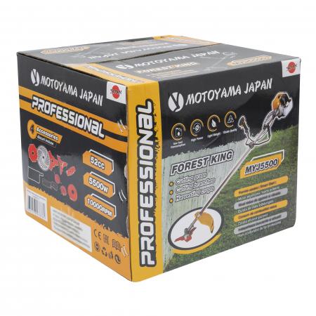 Motocoasa MOTOYAMA Japan Professional, 7.5CP, benzina, 2 timpi, 9 accesorii incluse, 5500W [14]