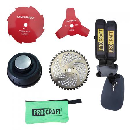 Pachet PROMO: Motocoasa ProCraft 4350, 6CP  + Motofierastrau ProCraft GS-52T, 5.5CP, Accesorii Incluse3