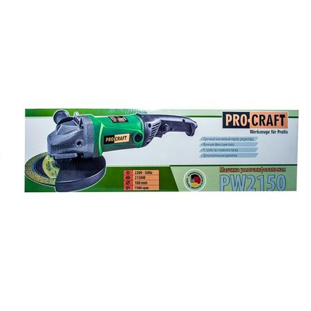 POLIZOR UNGHIULAR PROCRAFT PW2150, 2150W, 7500 RPM, 180MM3