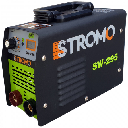 Aparat de sudura invertor STROMO SW 295 + Masca Automata, cristale lichide, Afisaj Electronic, Electrozi 1.6-4 mm, Accesorii Incluse [1]