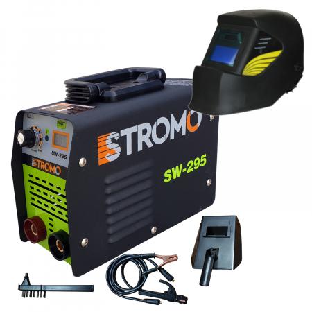 Aparat de sudura invertor STROMO SW 295+ Masca cristale lichide,afisaj electronic, electrod 1.6-4mm, accesorii incluse0