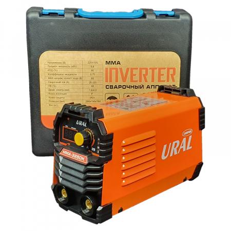 Aparat de sudura ( Invertor ) URAL MMA 325DK + Masca automata, 320Ah, Accesorii Incluse,Cutie de Transport, Cabluri 3M4
